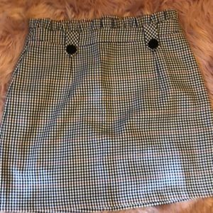 Topshop plaid skirt